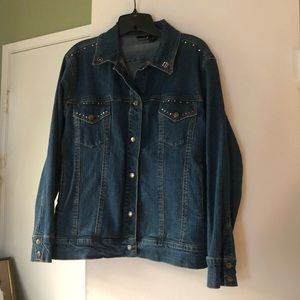EUC North Crest Jean jacket women's large